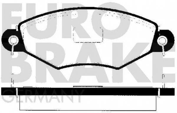 Front brake pad set (4 pcs) EUROBRAKE 5502223735