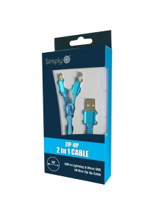 Zip Up 2 in 1 charger cable